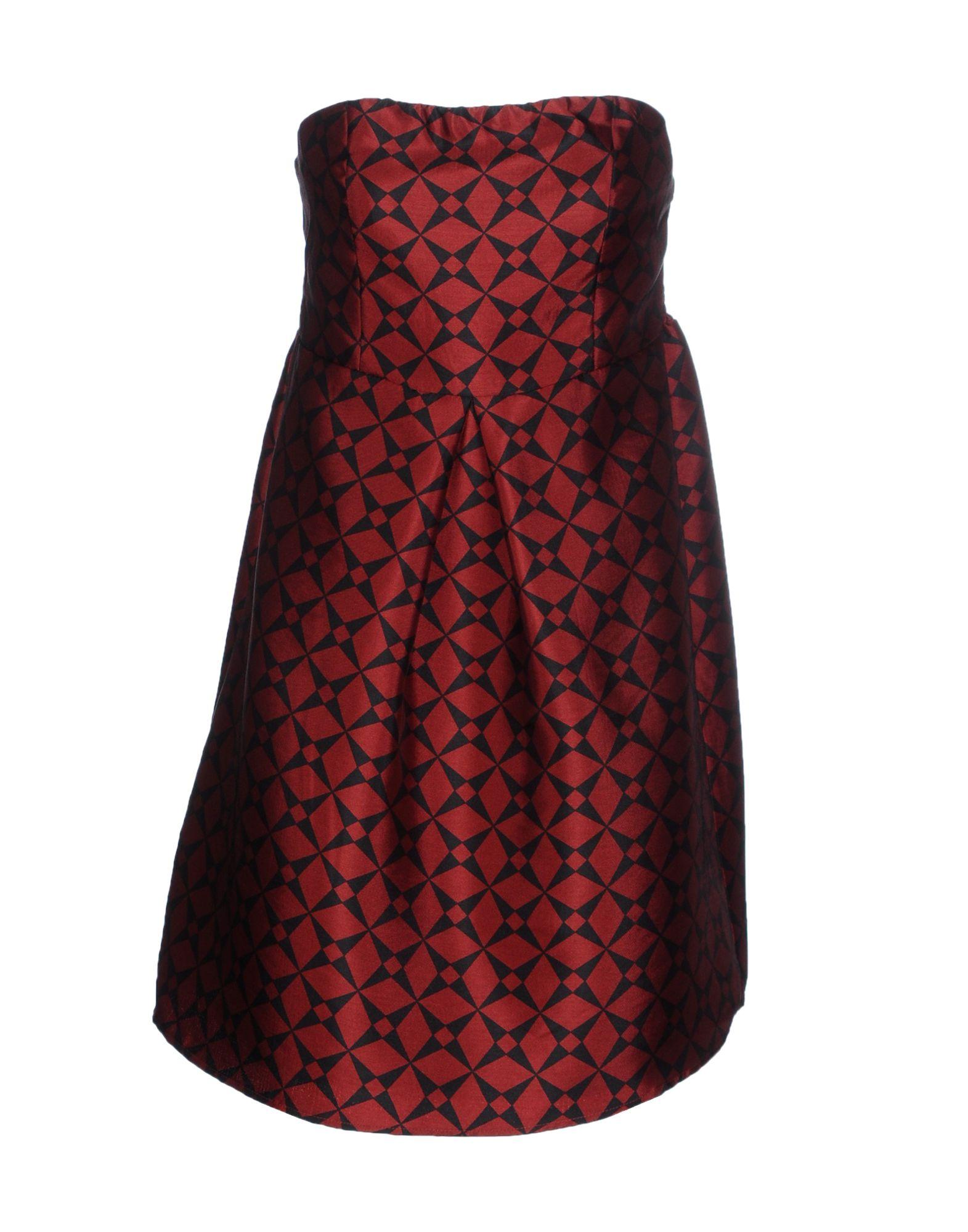 ANONYME DESIGNERS Короткое платье designers remix однотонное платье dagmar long
