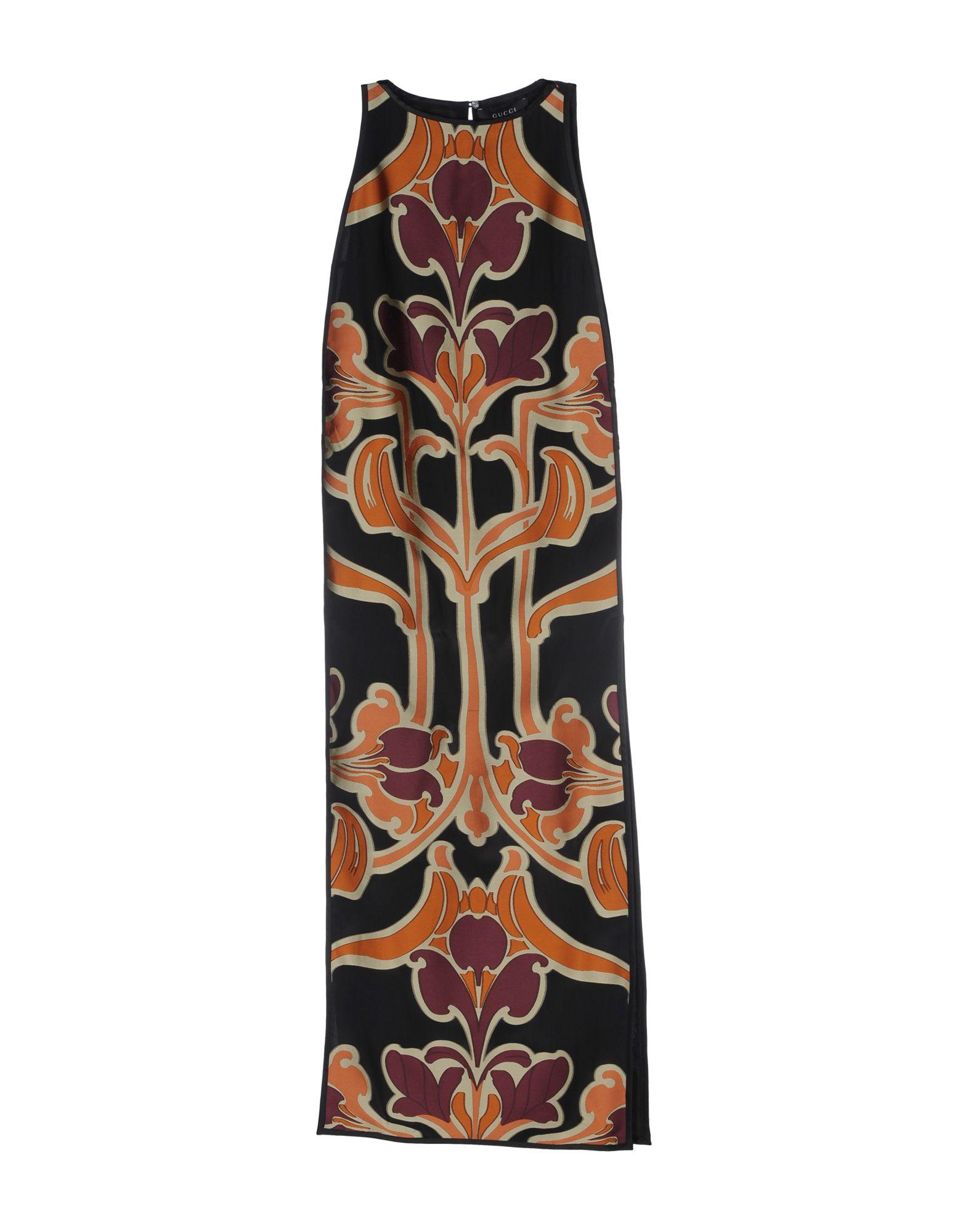 GUCCI Damen Langes Kleid Farbe Schwarz Größe 3