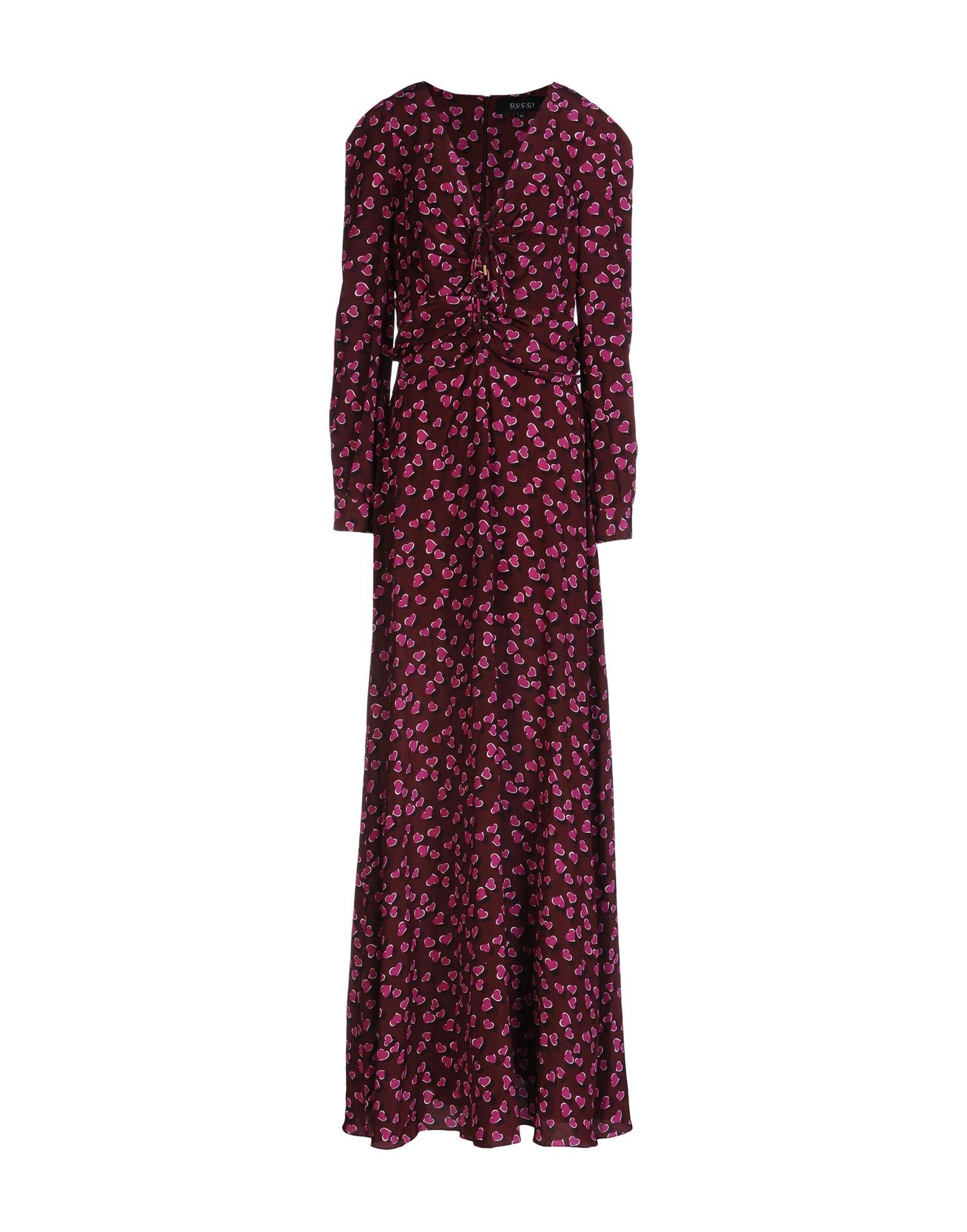 GUCCI Damen Langes Kleid Farbe Bordeaux Größe 4