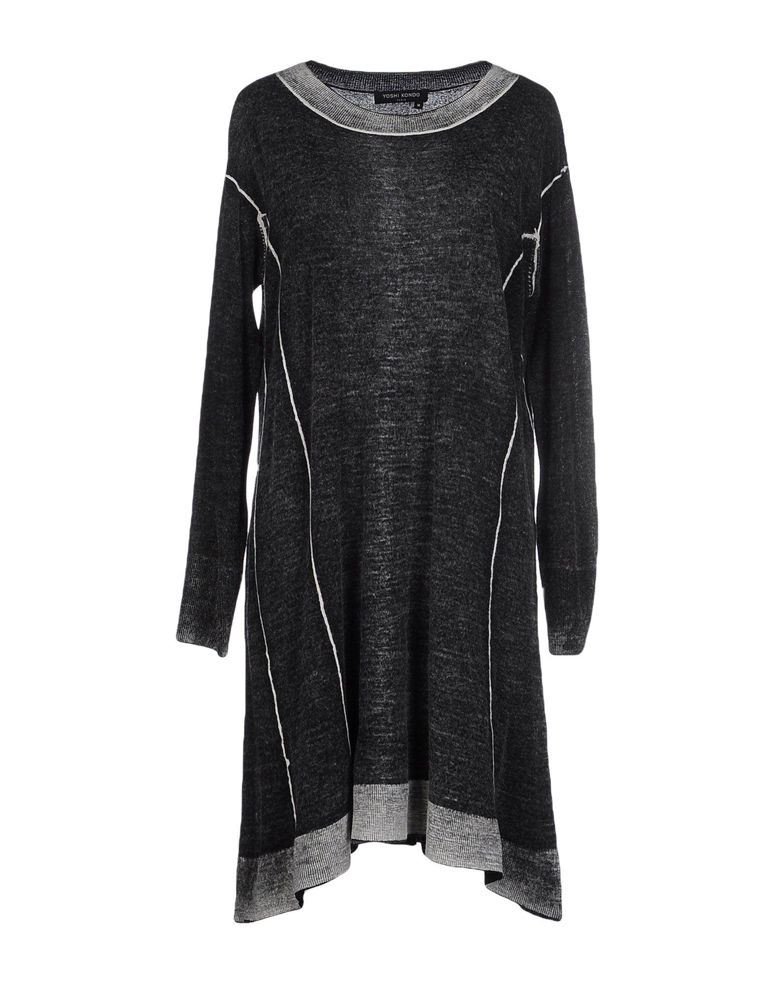 YOSHI KONDO Short Dress in Steel Grey