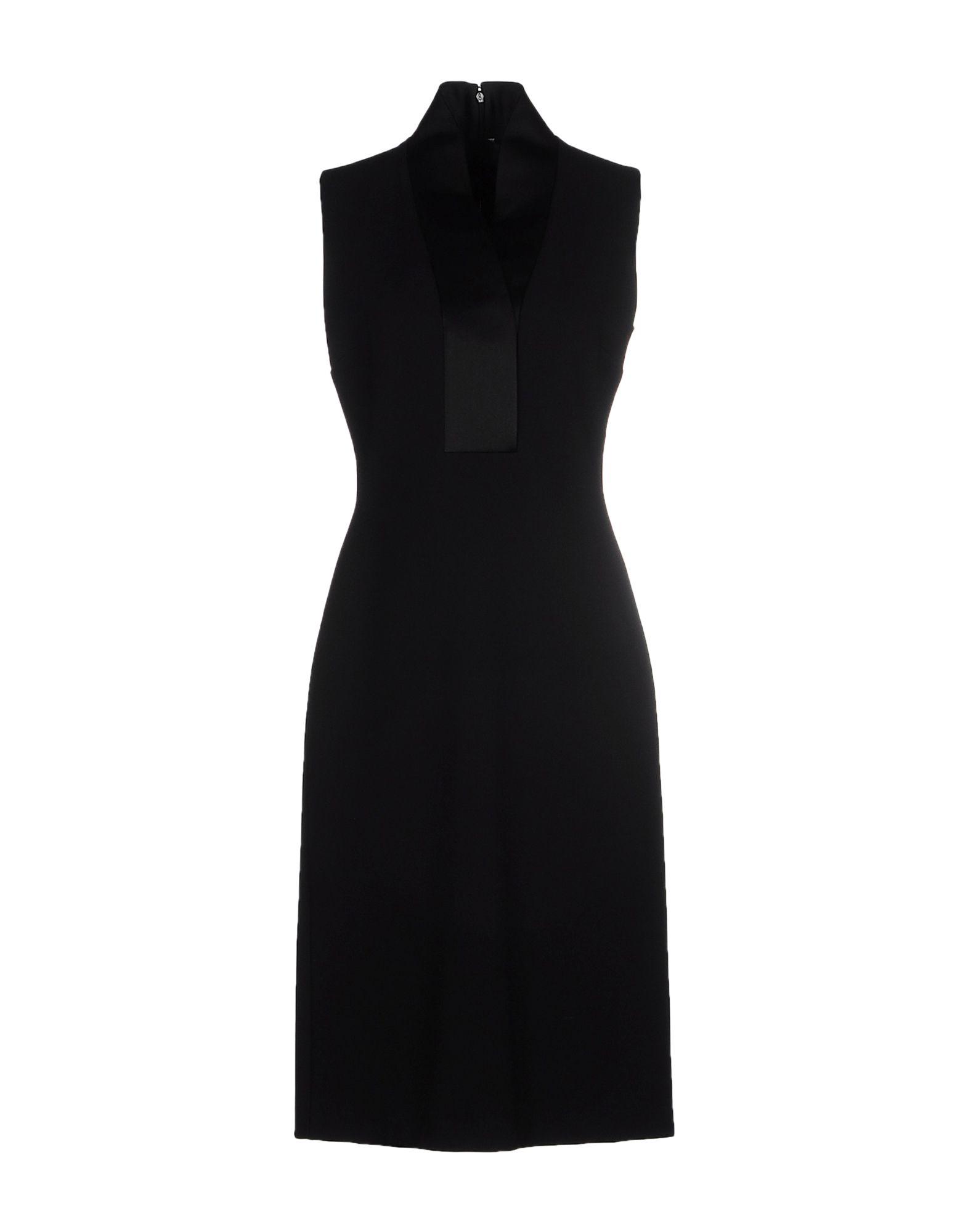 GUCCI Damen Knielanges Kleid Farbe Schwarz Größe 2