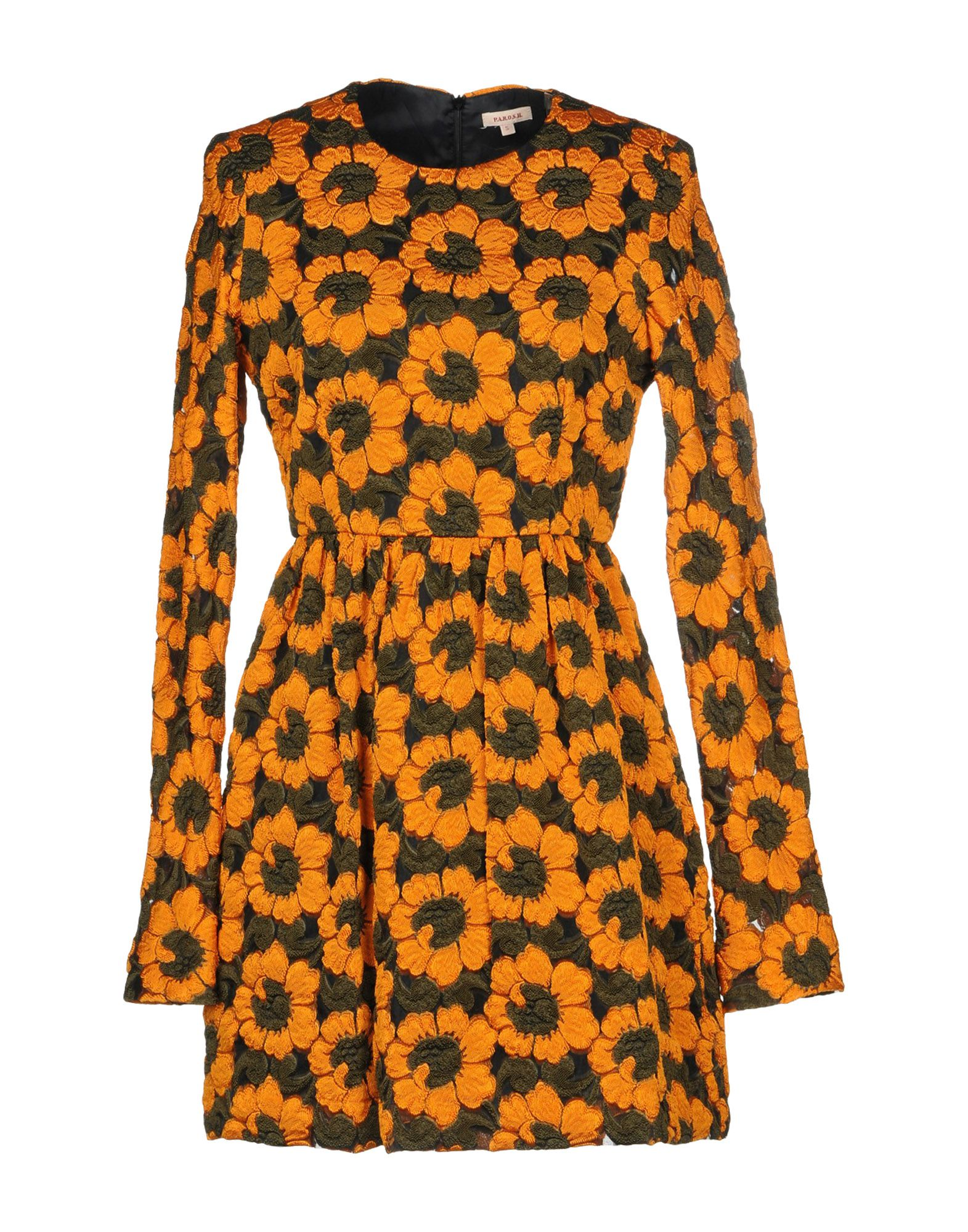 P.A.R.O.S.H. Короткое платье lovaru ™новый 2015 мода новые печатные органза сладкий простой талии платье женщина casual платье