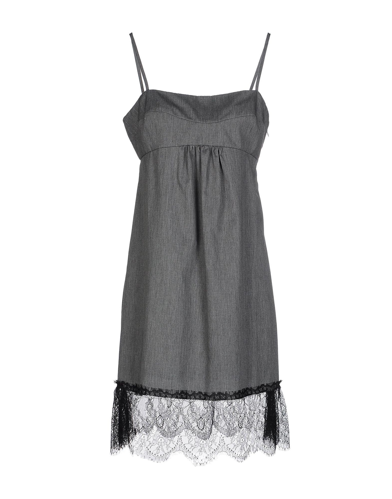 LIVIANA CONTI Короткое платье платье без рукавов с кружевной вставкой на спинке