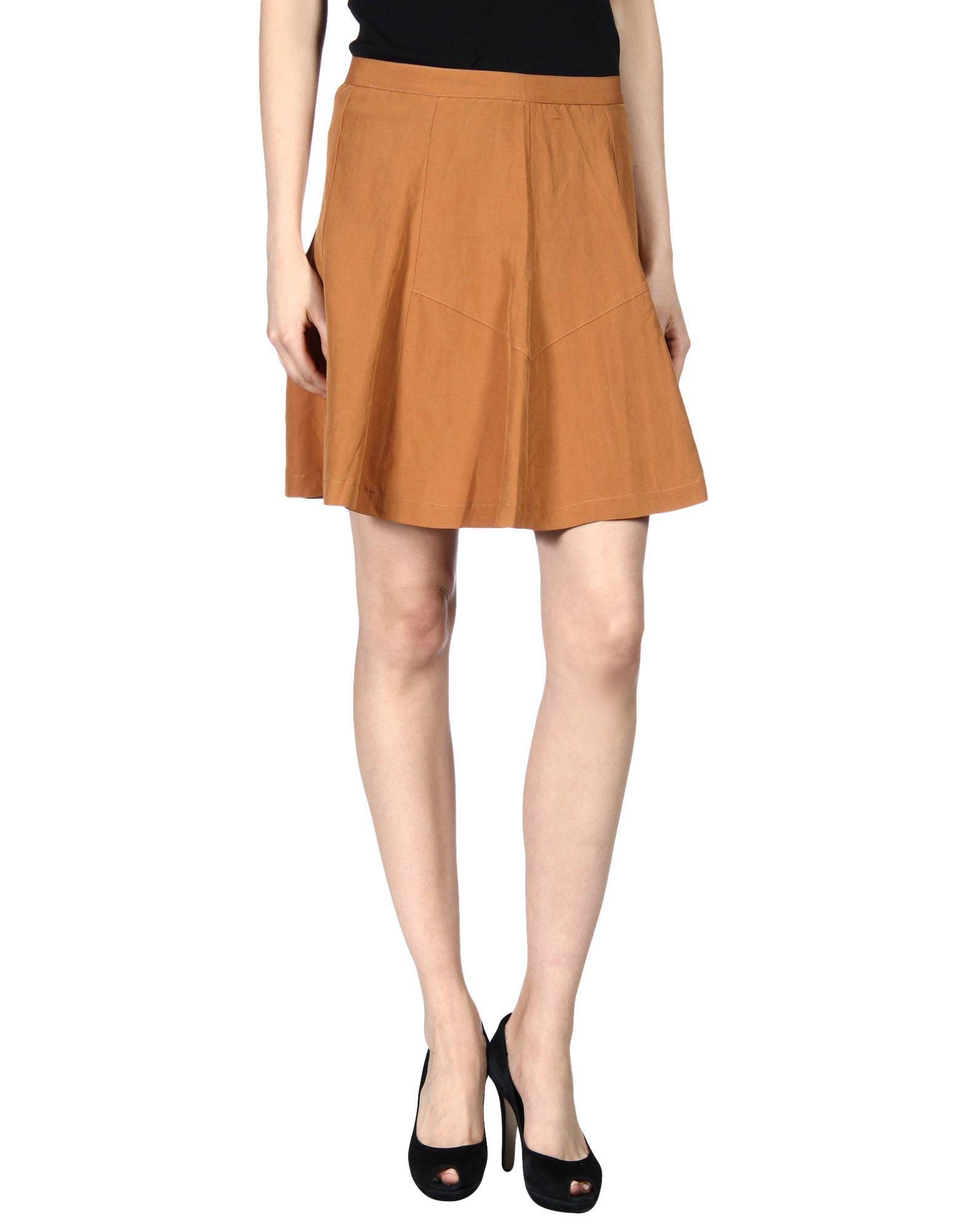 KAIN Knee Length Skirt in Tan