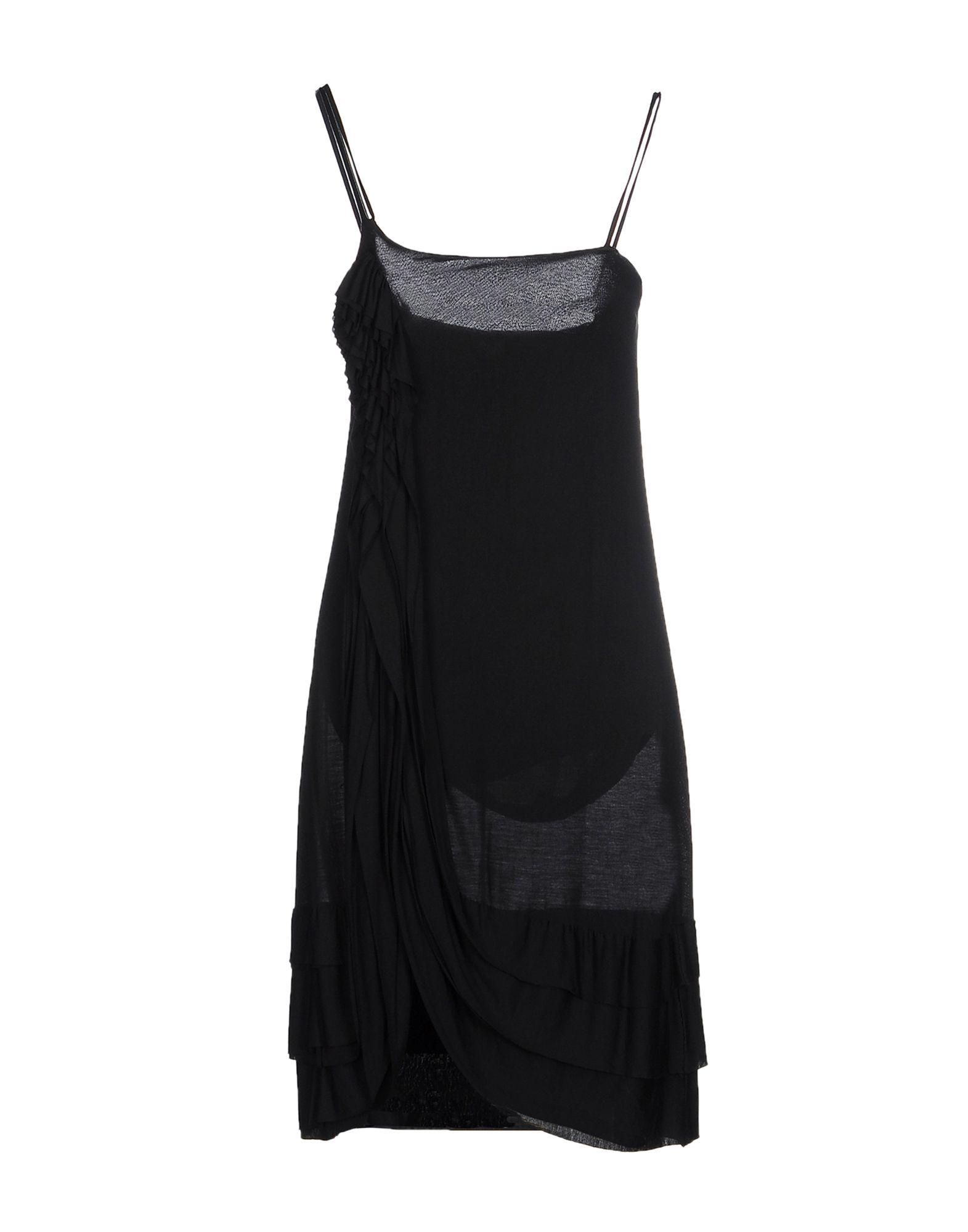 ANIYE BY Damen Knielanges Kleid Farbe Schwarz Größe 4