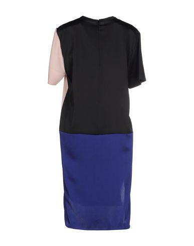 Фото 2 - Женское короткое платье CEDRIC CHARLIER синего цвета