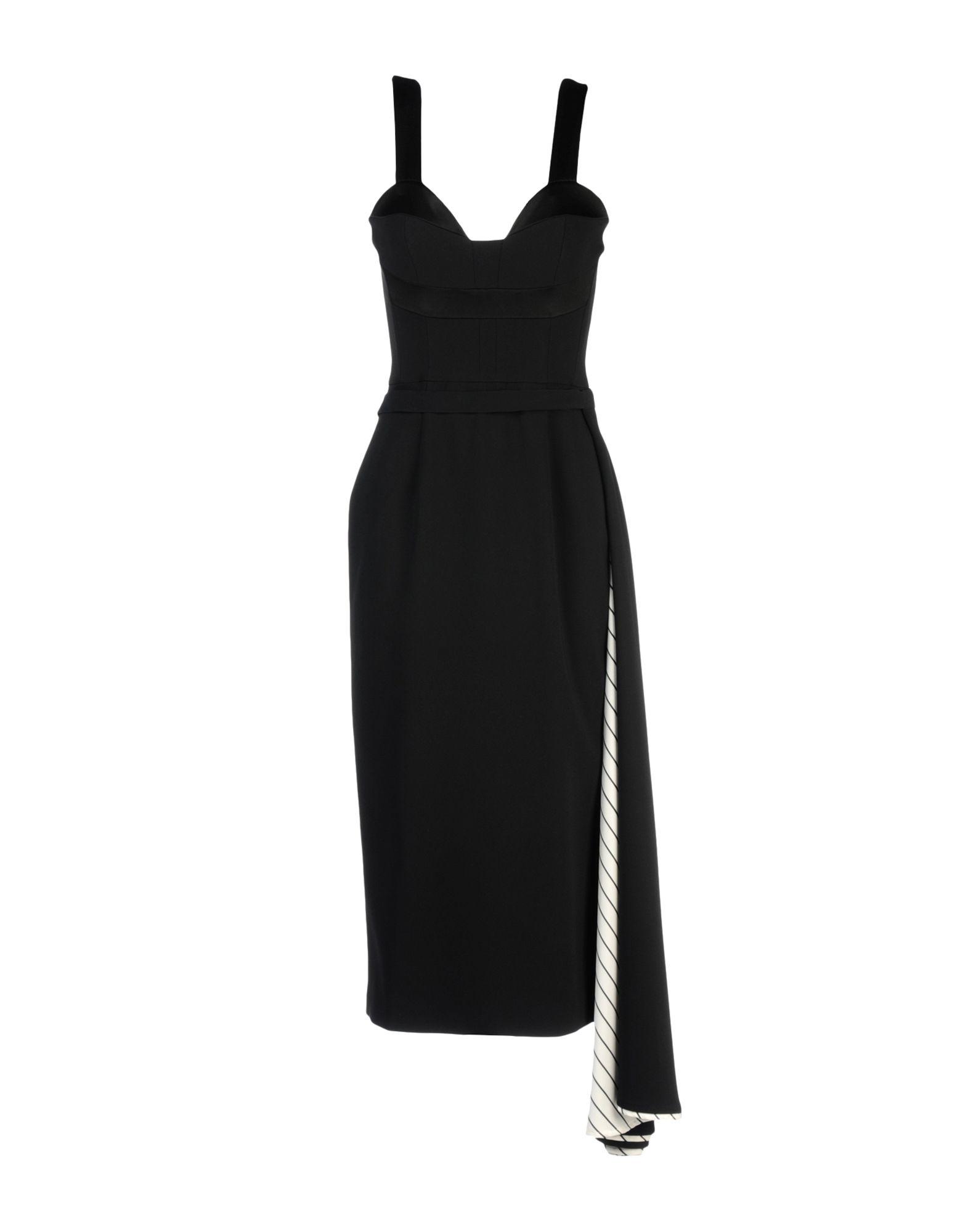 DANIELE CARLOTTA Midi Dress in Black