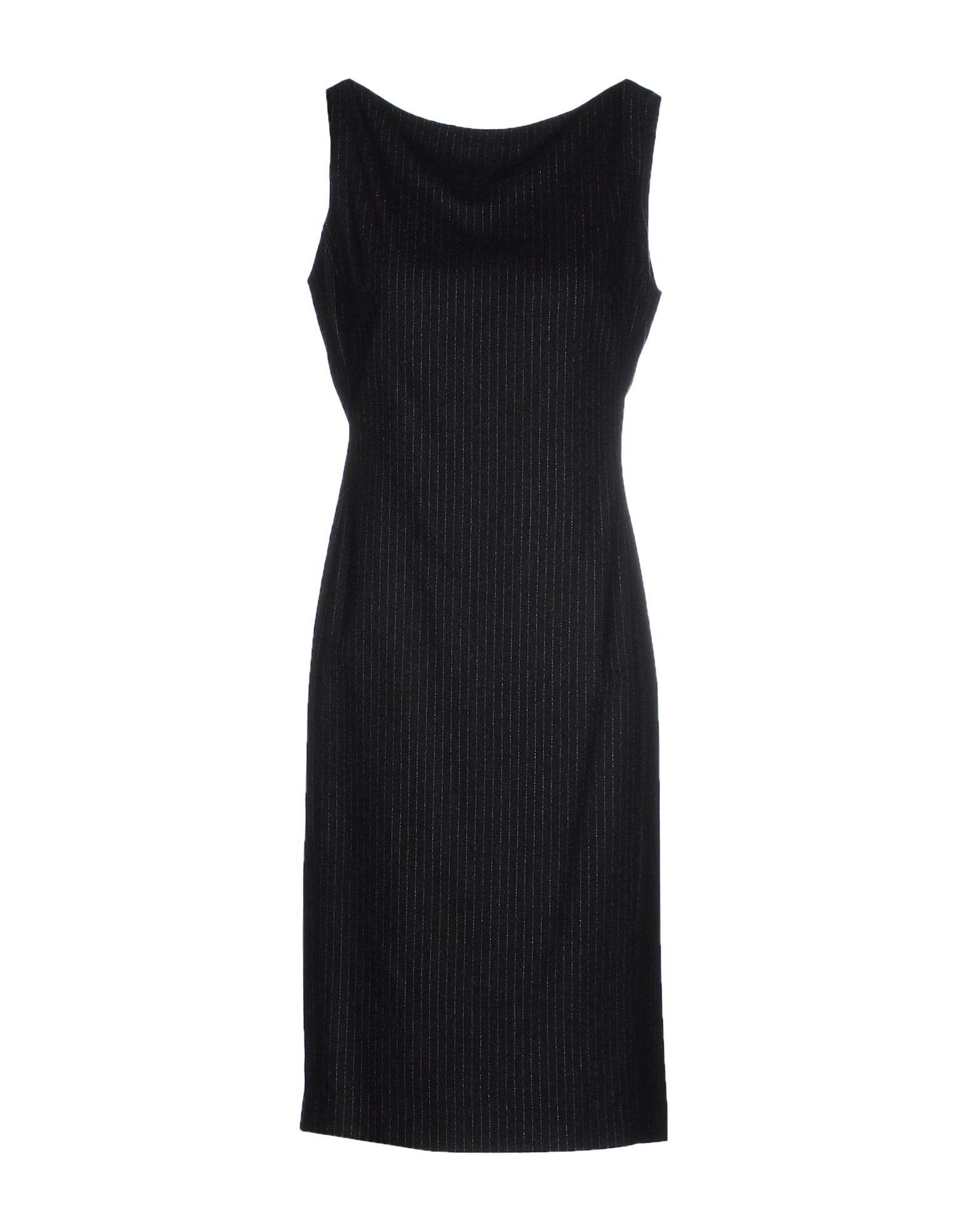 Платье до колена  Серый цвета