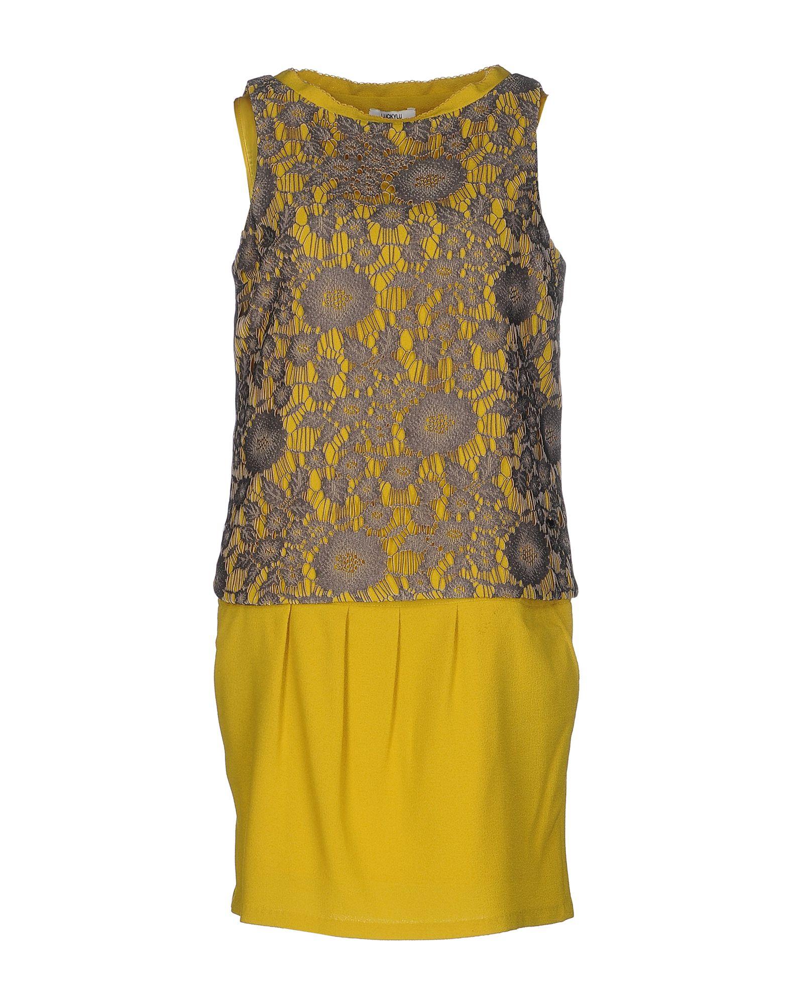 LUCKY LU Milano Короткое платье lu kids платье с драпированным подолом