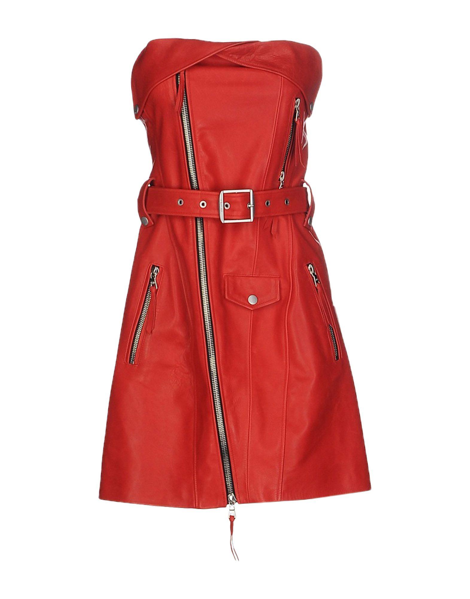 UNRAVEL Damen Kurzes Kleid Farbe Rot Größe 3