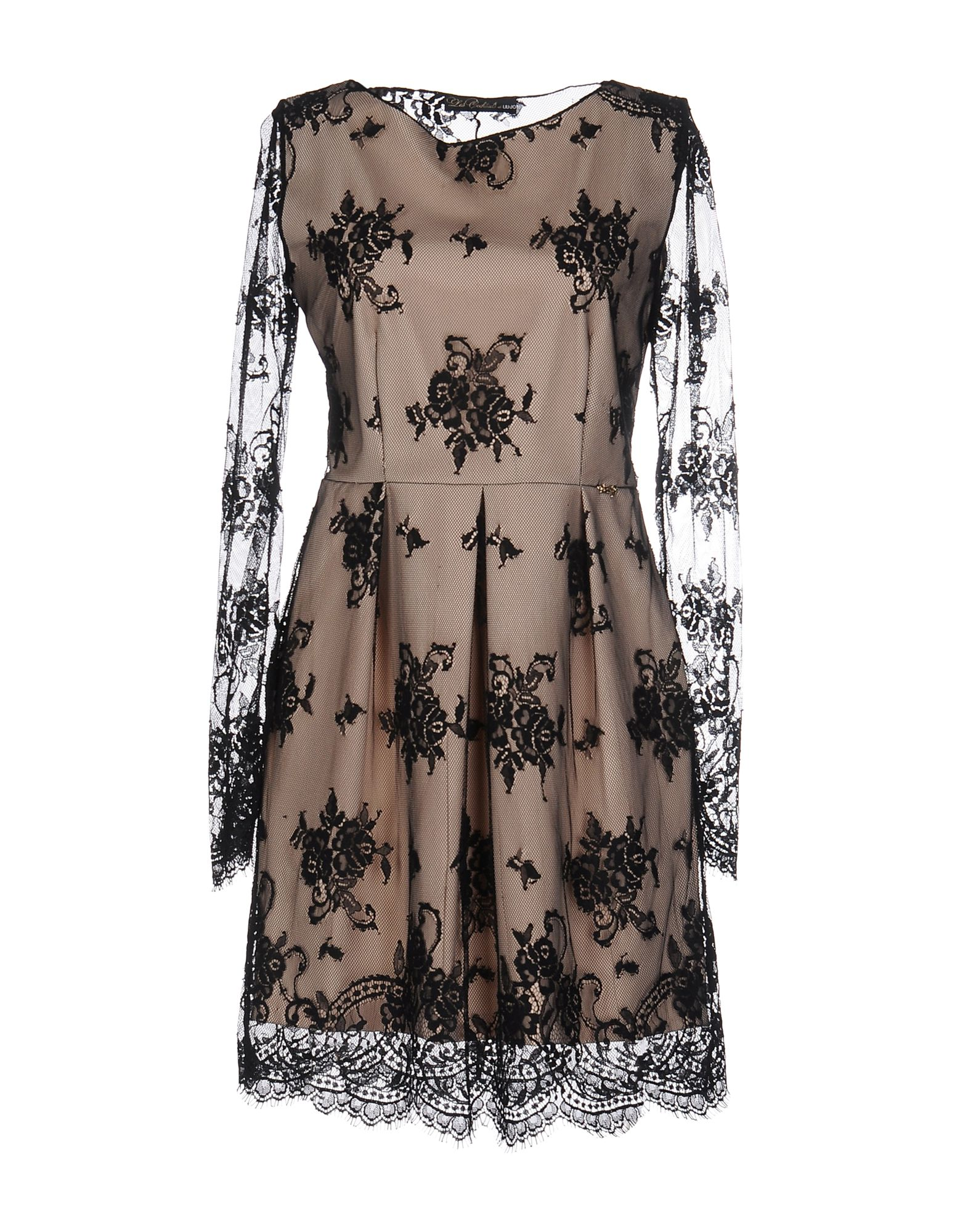 LES COCKTAILS DE LIU •JO Damen Kurzes Kleid Farbe Beige Größe 6