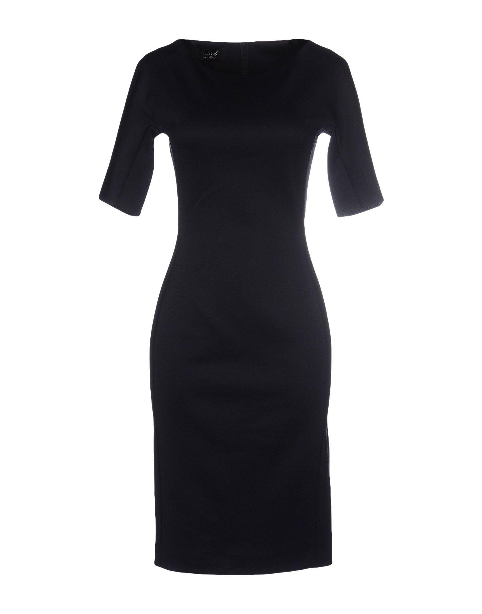 CLIPS MORE Платье до колена платье clips more платья и сарафаны мини короткие