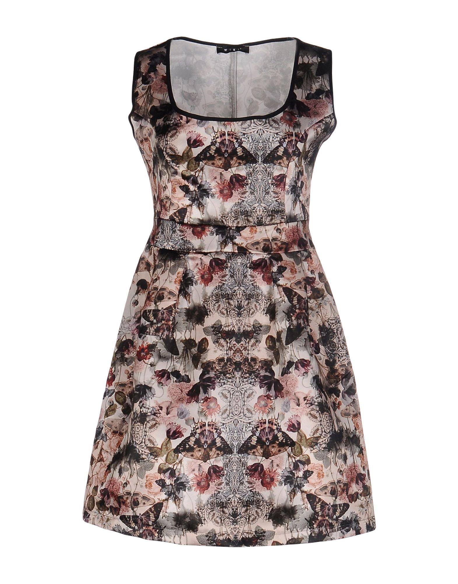 《送料無料》W!K! レディース ミニワンピース&ドレス ベージュ XL ポリエステル 100%