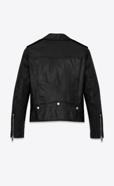SAINT LAURENT Leather jacket U Classic Motorcycle Jacket in Black Washed Leather b_V4