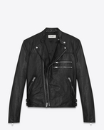 SAINT LAURENT Leather jacket U Motorcycle Racer Jacket in Black Leather f