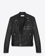 SAINT LAURENT Vestes Cuir U Blouson motorcycle en cuir noir f
