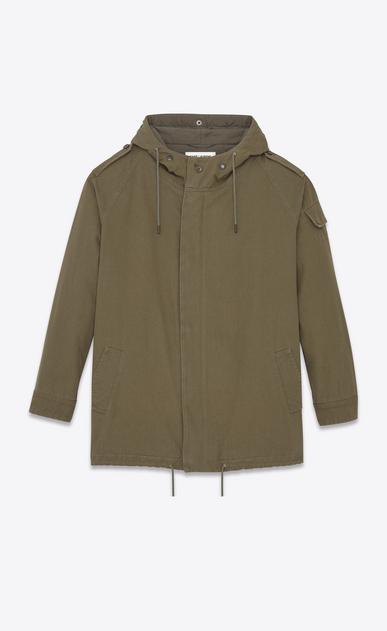 SAINT LAURENT Casual Jackets U Military Parka in Military Khaki Cotton Twill v4