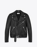 SAINT LAURENT Leather jacket U Guitar Leather Jacket Black Leather f