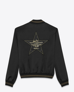 SAINT LAURENT Casual Jackets U PALLADIUM Teddy Jacket in Black Satin Viscose f