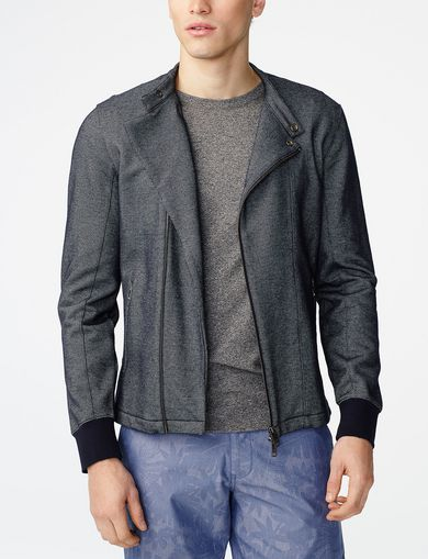 ARMANI EXCHANGE Technical Biker Jacket Man front