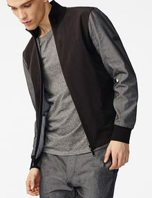 ARMANI EXCHANGE Woven Paneled Mockneck Jacket Jacket U a