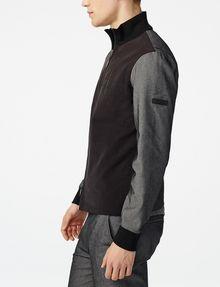 ARMANI EXCHANGE Woven Paneled Mockneck Jacket Jacket [*** pickupInStoreShippingNotGuaranteed_info ***] d