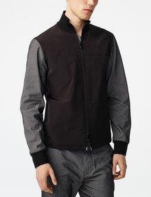 ARMANI EXCHANGE Woven Paneled Mockneck Jacket Jacket [*** pickupInStoreShippingNotGuaranteed_info ***] f