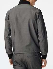 ARMANI EXCHANGE Woven Paneled Mockneck Jacket Jacket [*** pickupInStoreShippingNotGuaranteed_info ***] r