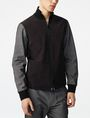 ARMANI EXCHANGE Woven Paneled Mockneck Jacket Jacket U f