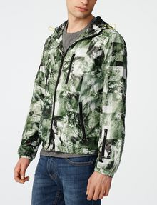 ARMANI EXCHANGE Aerial Camo Zip-Up Hoodie Jacket U d