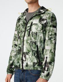 ARMANI EXCHANGE Aerial Camo Zip-Up Hoodie Jacket Man e
