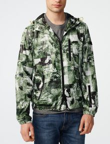 ARMANI EXCHANGE Aerial Camo Zip-Up Hoodie Jacket Man f