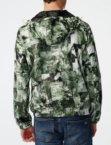 ARMANI EXCHANGE Aerial Camo Zip-Up Hoodie Jacket U r