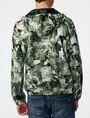 ARMANI EXCHANGE Aerial Camo Zip-Up Hoodie Jacket Man r