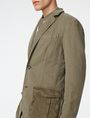 ARMANI EXCHANGE Two-Tone Linen Blazer Two buttons blazers Man e