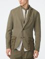 ARMANI EXCHANGE Two-Tone Linen Blazer Two buttons blazers Man f