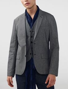 ARMANI EXCHANGE Mini Check Blazer Two buttons blazers U f
