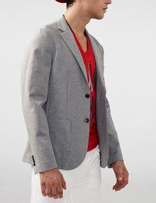 ARMANI EXCHANGE Ponte Knit Blazer Two buttons blazers U f