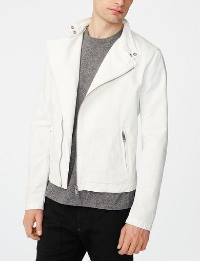 ARMANI EXCHANGE Cotton Moto Jacket Man front