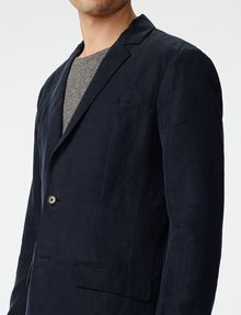ARMANI EXCHANGE Two-Button Linen Blend Blazer Two buttons blazers Man e