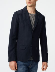 ARMANI EXCHANGE Two-Button Linen Blend Blazer Two buttons blazers U f