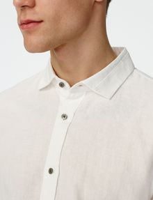 ARMANI EXCHANGE Pigment-Dyed Button-Down Shirt Long sleeve shirt Man e