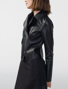 ARMANI EXCHANGE Faux-Leather Moto Moto Jacket Woman d