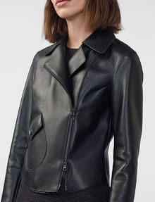 ARMANI EXCHANGE Faux-Leather Moto Moto Jacket D e