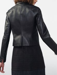 ARMANI EXCHANGE Faux-Leather Moto Moto Jacket Woman r