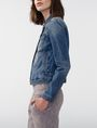 ARMANI EXCHANGE Busted Seam Denim Trucker Jacket D d