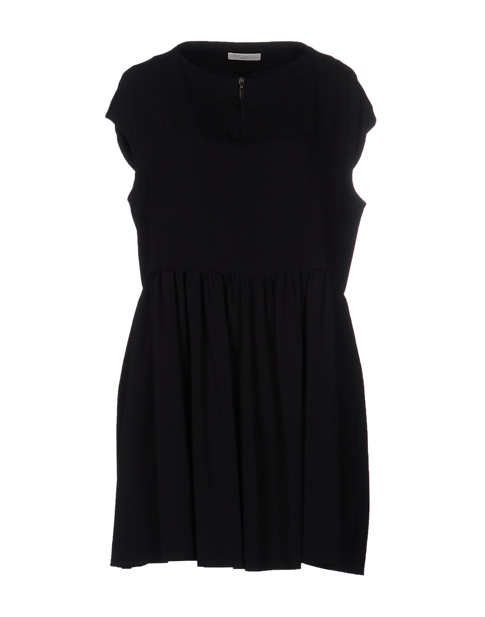 ANTONELLI Damen Kurzes Kleid Farbe Schwarz Größe 4