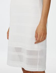 ARMANI EXCHANGE Mesh Stripe Midi Dress Jersey dresses D e