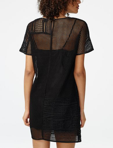 ARMANI EXCHANGE Sheer Lace Tee Dress Woman retro