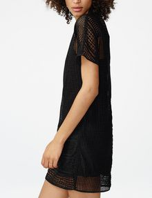 ARMANI EXCHANGE Sheer Lace Tee Dress Long-sleeved dresses D d